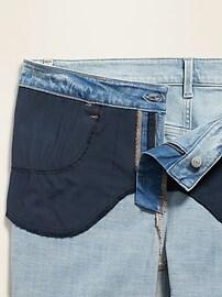 High-Waisted Secret-Slim Pockets Plus-Size Distressed Rockstar Ankle Jeans