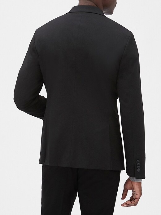 Extra Slim-Fit Stretch Black Blazer