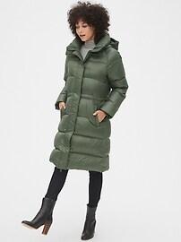 Long Down High Shine Puffer Coat