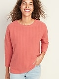 Deals on Old Navy Loose Wide-Wale Terry Tee for Women