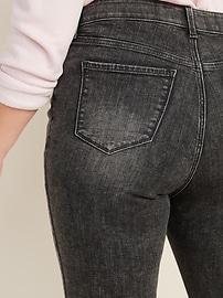 High-Waisted Secret-Slim + Waistband Plus-Size Rockstar Super Skinny Jeans