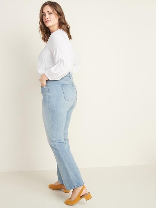 High-Waisted Secret-Slim Pockets Kicker Boot-Cut Plus-Size Jeans