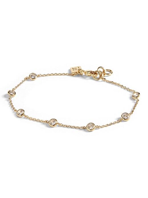 Bezel Set Bracelet