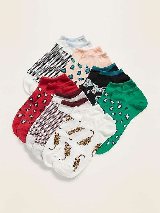 Printed Ankle Socks 7-Pack for Women