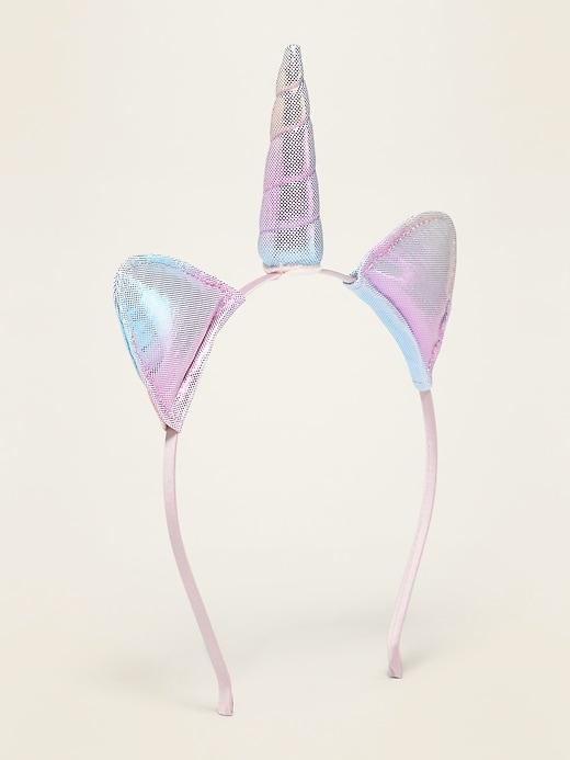 Iridescent Unicorn Headband For Girls