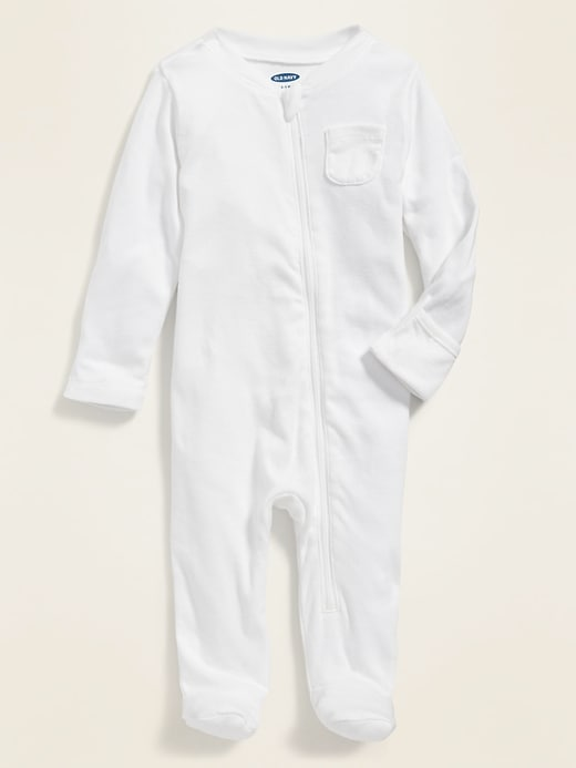 Zip-Front Footed One-Piece for Baby