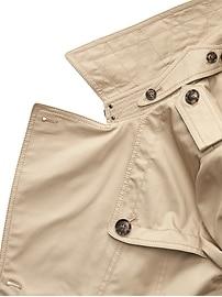 Water-Resistant Short Trench Coat
