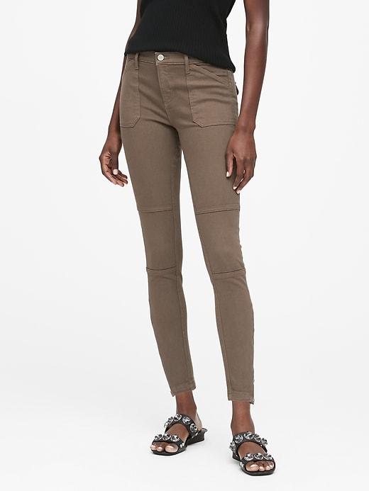 Mid-Rise Skinny Utility Jean