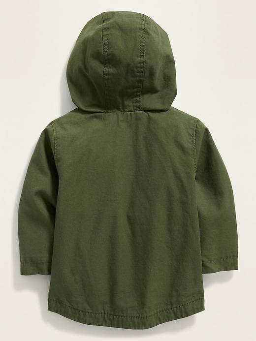 Hooded Canvas Utility Jacket for Baby