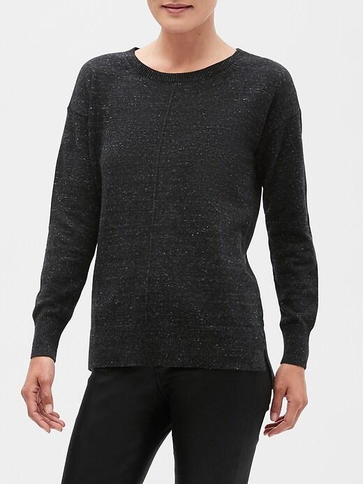 Fleck Boatneck Pullover Sweater