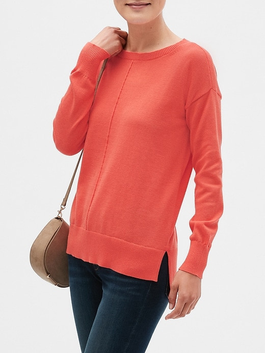 Boatneck Pullover Sweater