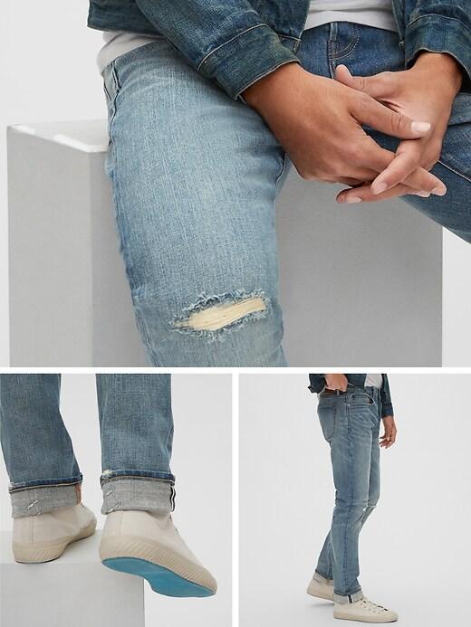 Selvedge Slim Jeans with GapFlex