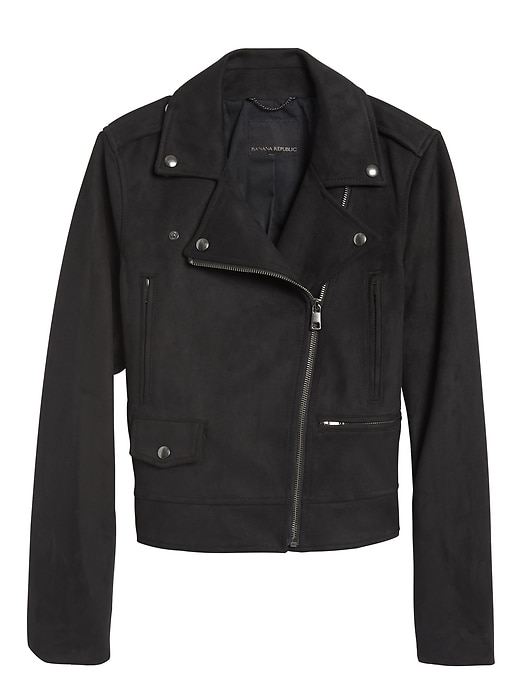 Vegan Suede Moto Jacket