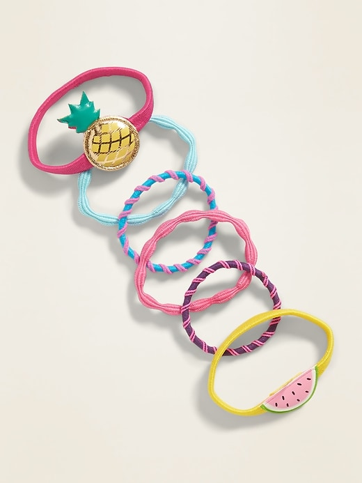 Icon Hair Ties 6-Pack for Girls