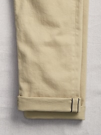 Selvedge Khakis in Straight Fit with GapFlex