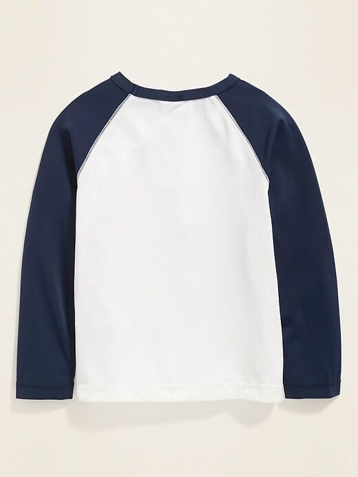 Color-Blocked Raglan-Sleeve Rashguard for Toddler Boys