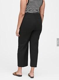 Petite Slim Wide-Leg Cropped Pant
