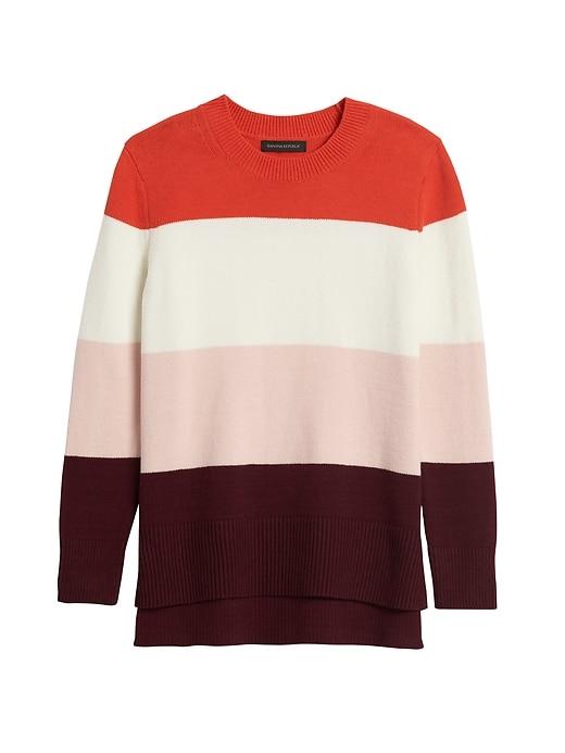Super Soft Cotton Hi-Low Hem Sweater