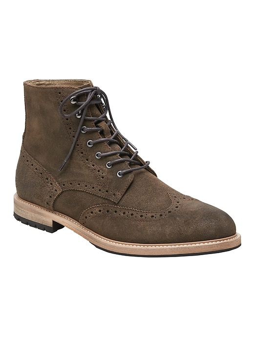 Booth Suede Brogue Boot