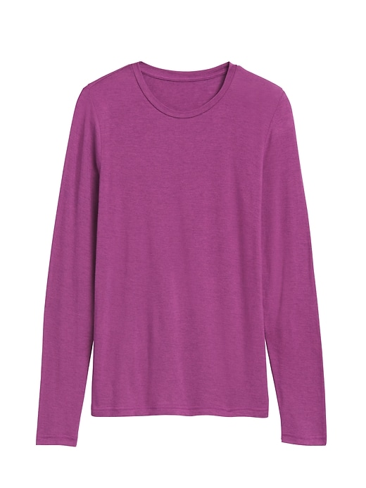 Rayon-Wool Crew-Neck T-Shirt
