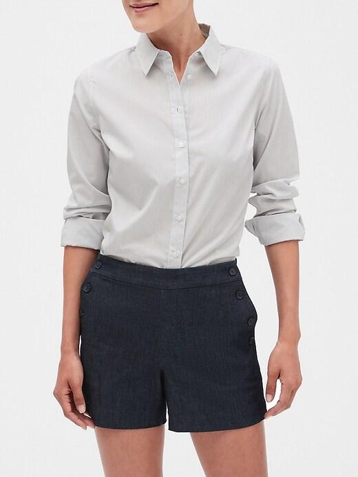 Petite Stripe Tailored Non-Iron Shirt