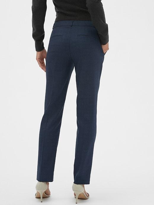 Washable Ryan Blue Plaid Slim Straight Pant