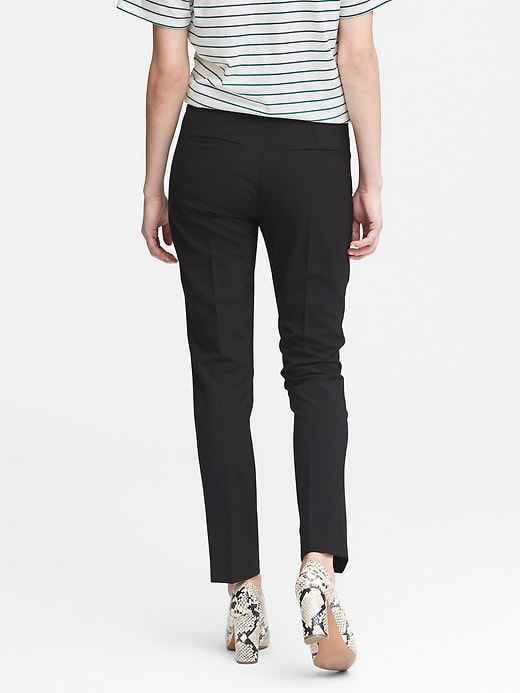 Ryan Slim Straight-Fit Washable Italian Wool Blend Pant