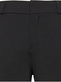 Pantalon en mélange de laine italienne lavable à la machine, coupe Logan Petite