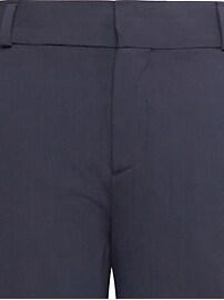 Pantalon à la cheville en mélange de laine italienne lavable en machine, coupe droite Avery, Petite