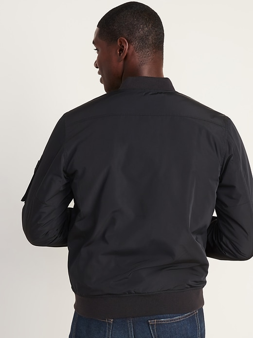 Water-Resistant Bomber Jacket for Men