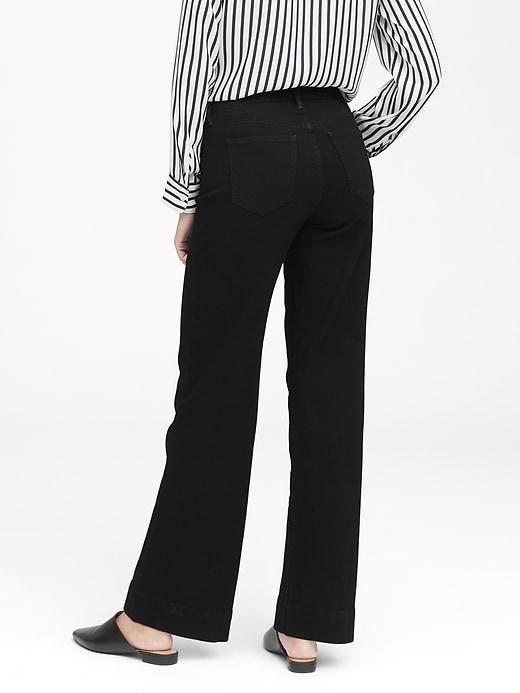 High-Rise Wide-Leg Patch Pocket Jean