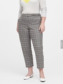 Avery Straight-Fit Plaid Flannel Pant