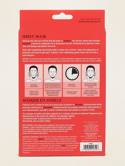 Danielle Creations&#174 Turmeric Face Sheet Mask