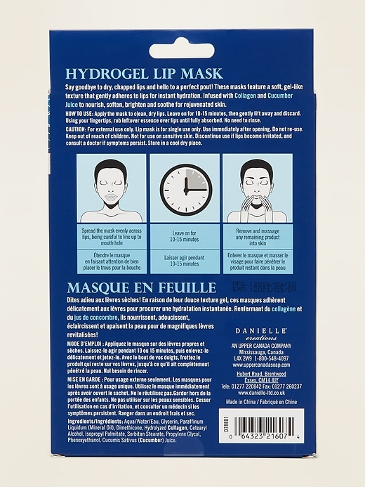 Danielle Creations&#174 Collagen Hydrogel Lip Mask