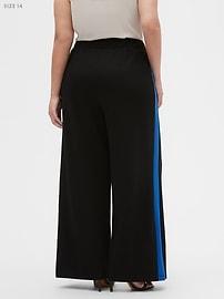 Knit Wide-Leg Side Stripe Pant