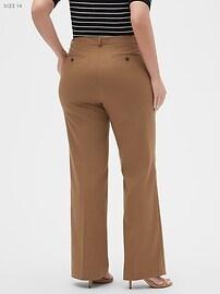 Washable Curvy Logan Camel Suit Trouser