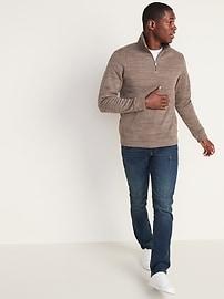 Mock-Neck 1/4-Zip Fleece-Knit Pullover for Men