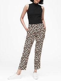 Avery Straight-Fit Leopard Ankle Pant