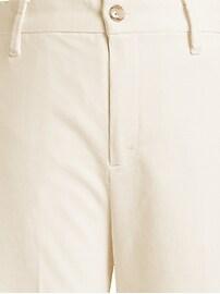 Slim Wide-Leg Corduroy Cropped Pant