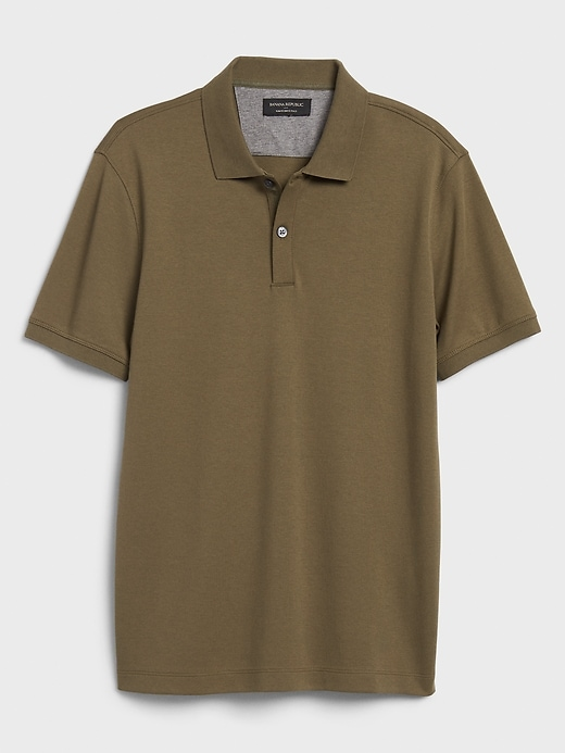 Slim-Fit Solid Dress Polo