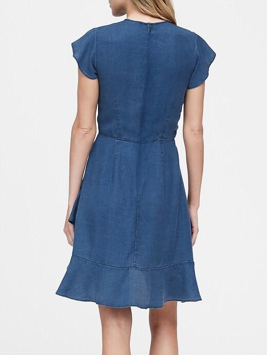TENCEL&#153 Flutter-Sleeve Mini Dress