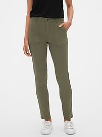 Mid Rise Utility Skinny Jean