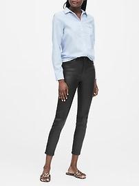 High-Rise Skinny Coated Jean