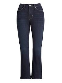 Petite Mid-Rise Crop Flare Jean