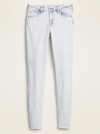 Mid-Rise Raw-Edge Rockstar Ankle Jeans for Women