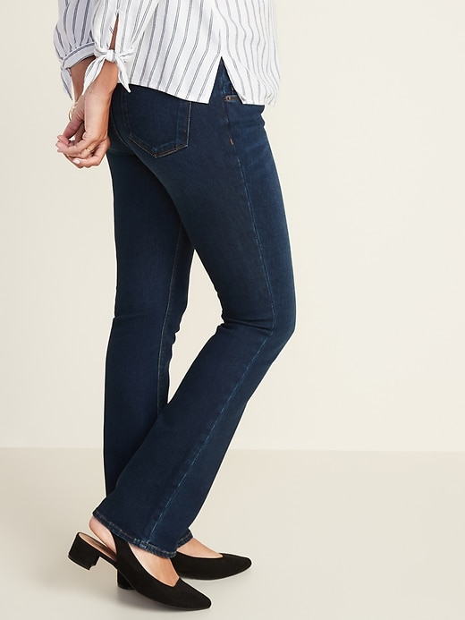 Maternity Front-Low Panel Boot-Cut Jeans