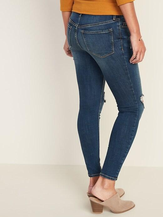 Maternity Premium Full-Panel Distressed Rockstar Jeans