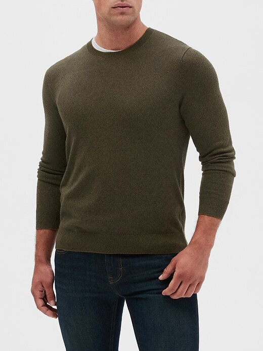 Premium Luxe Stripe Crew-Neck Sweater