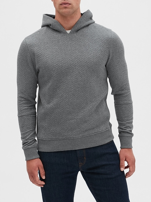 Quilted Pullover Hoodie Sweatshirt