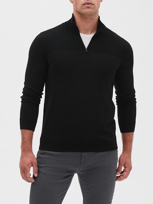 Premium Luxe Half Zip Sweater